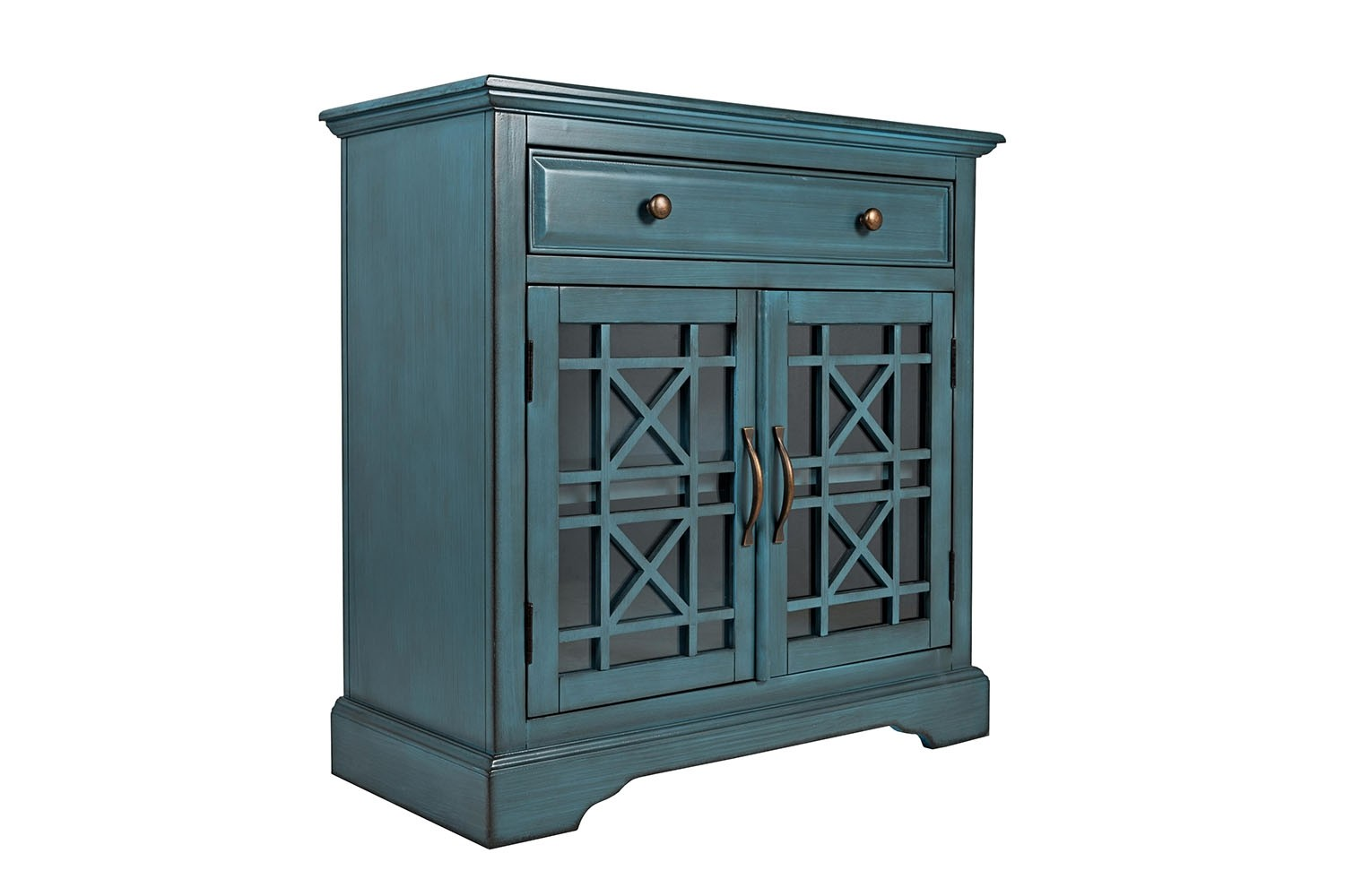 Skyy Small Media Cabinet In Blue Image 1
