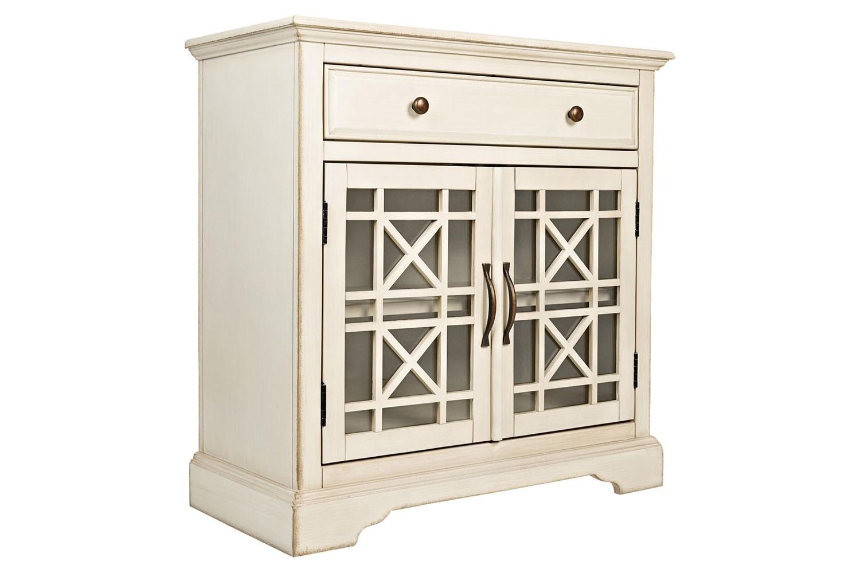 Skyy Small Media Cabinet In Cream Image 1