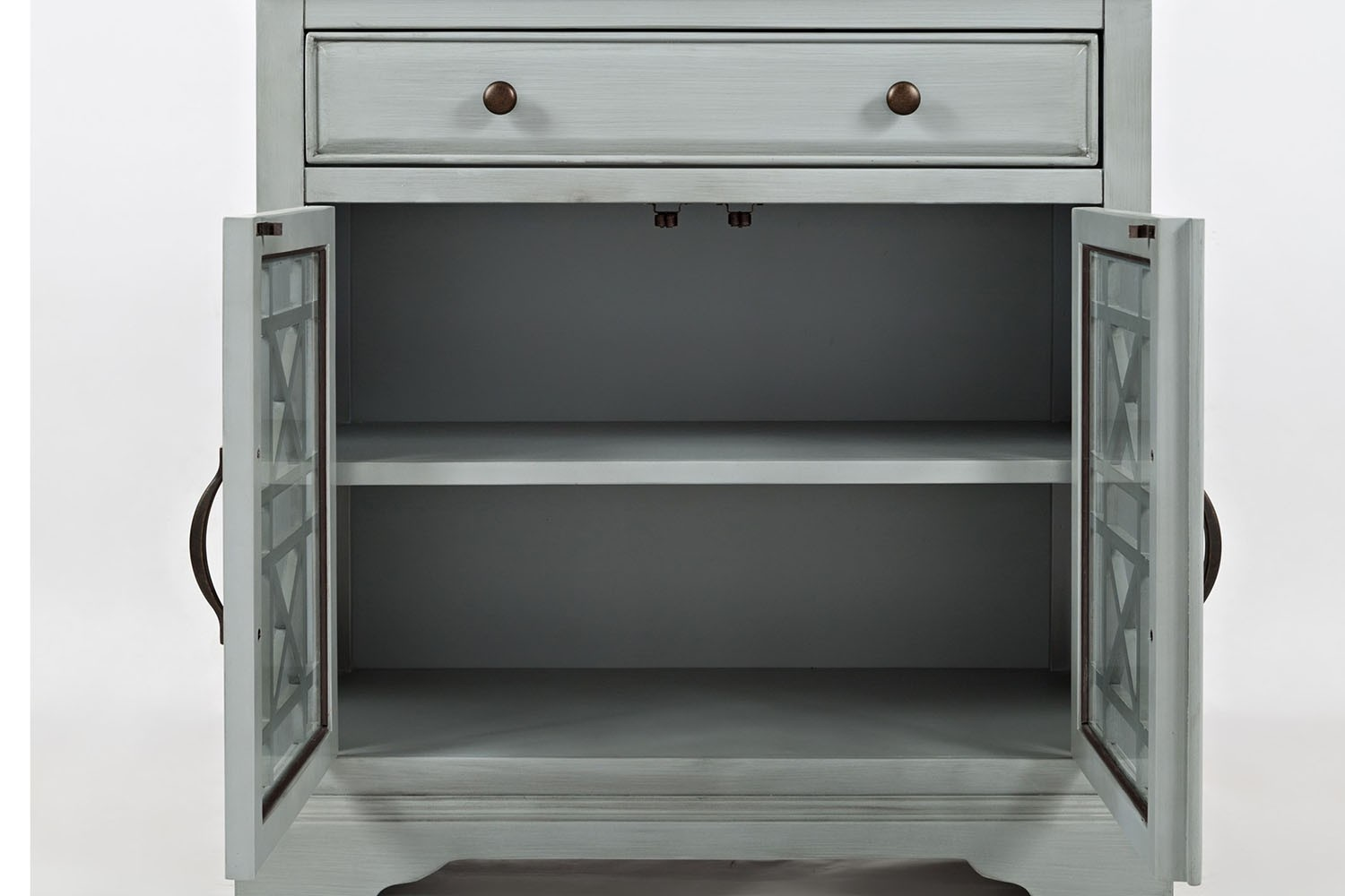 ... Skyy Gray Small Media Cabinet Media Image 3 ...
