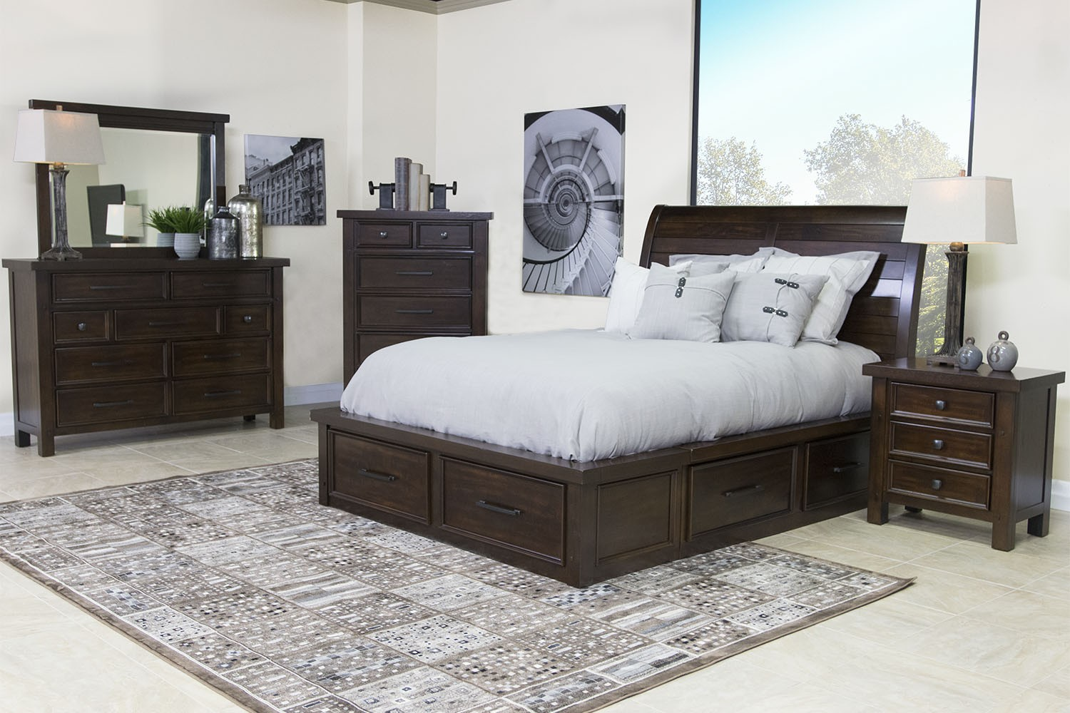 Sonoma King Storage Bed In Brown A Image 7