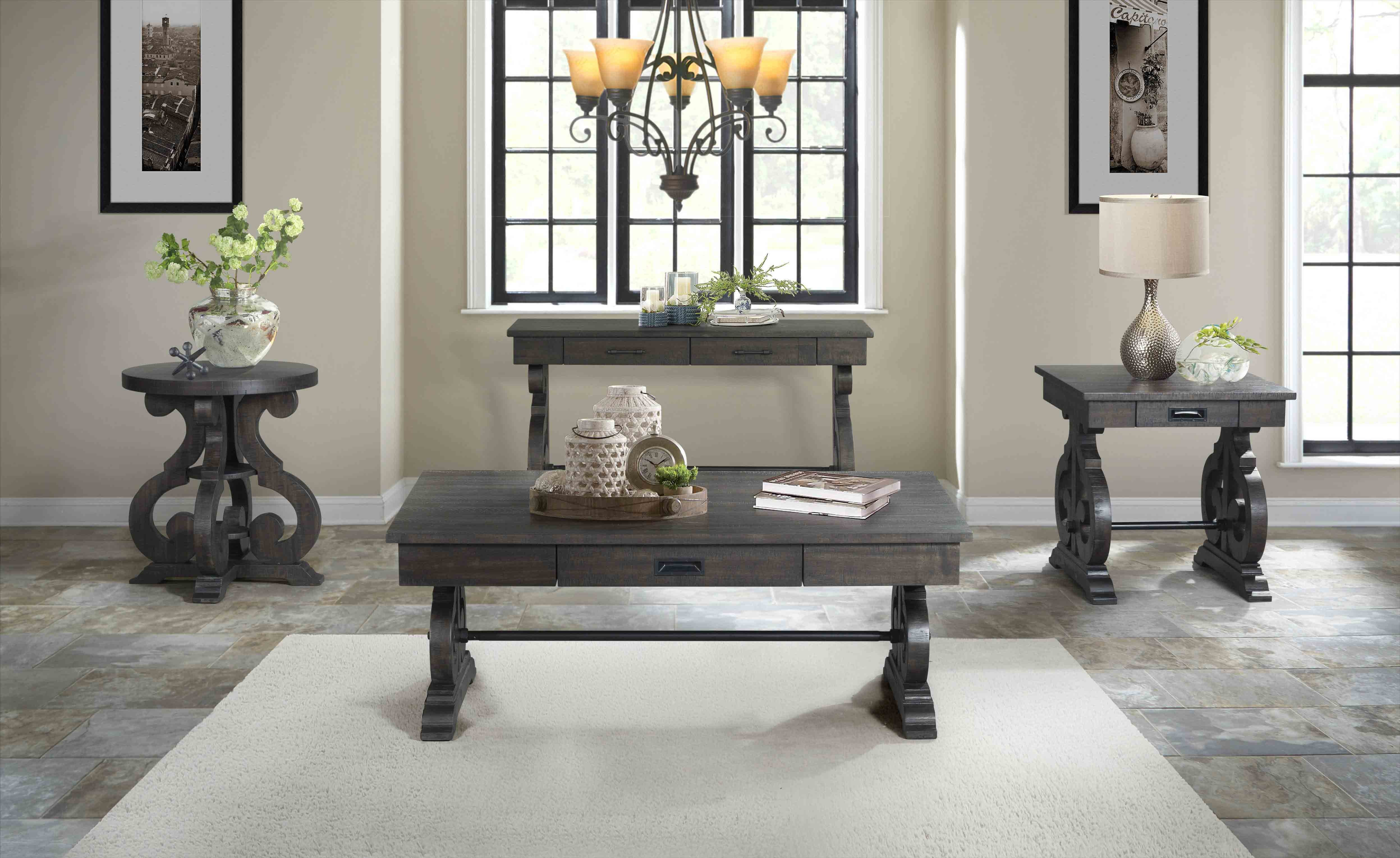 Stone Sofa Table In Charcoal Mor Furniture For Less