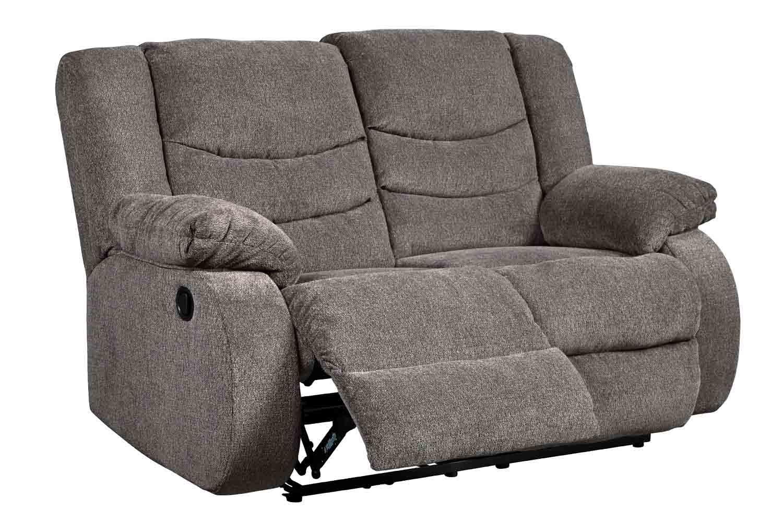 Tulen Slate Reclining Loveseat Mor Furniture For Less
