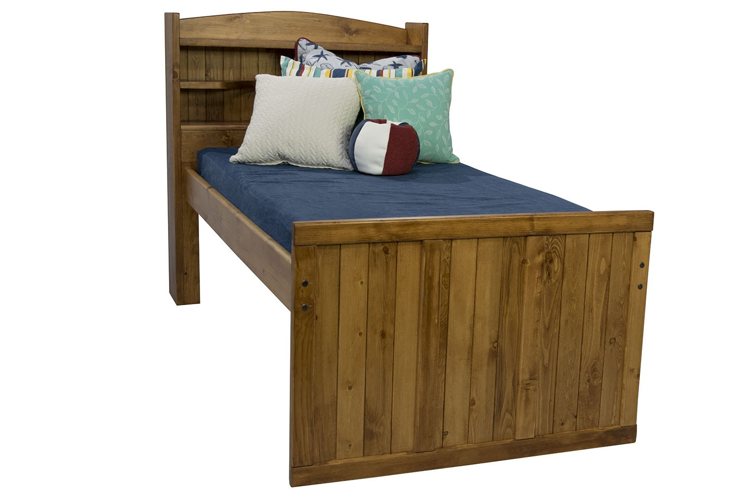 Young Pioneer Twin Bookcase Bed In Brown Mor Furniture