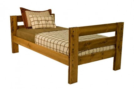 Young Pioneer Twin Bed in Brown