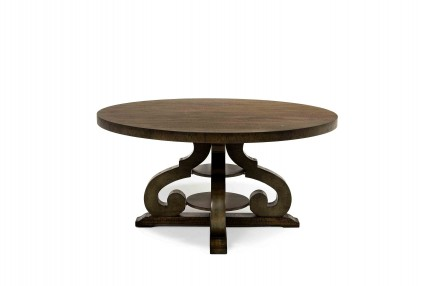 Stone Round Table in Gray