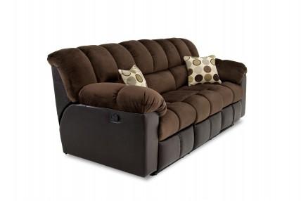 Fountain Chocolate Reclining Sofa