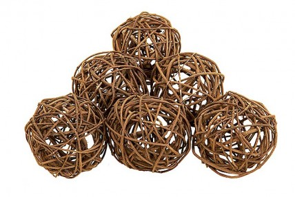 Natural Deco Balls - Set of 6