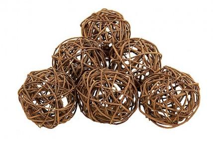 Natural Deco Balls - Set of 6