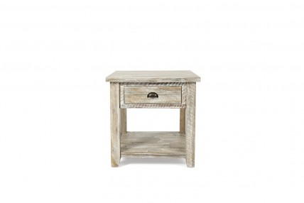 Artisan's Gray End Table