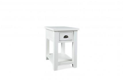 Artisan's White Chairside Table