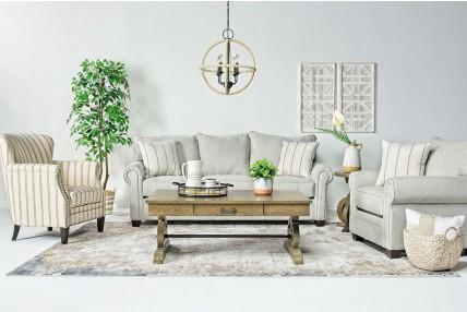 Cordoba Living Room In Linen