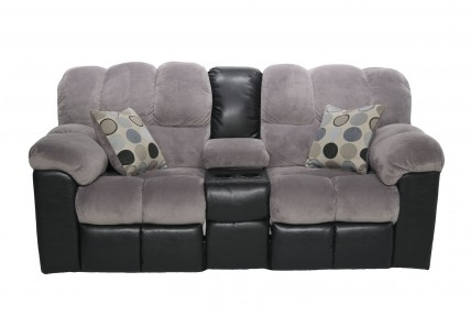 Fountain Gray Reclining Console Loveseat