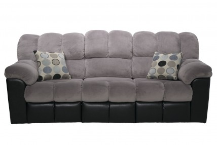 Fountain Gray Reclining Sofa