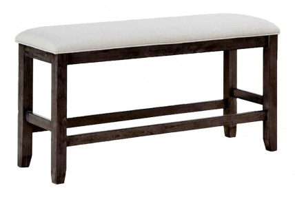 Miami Counter Height Bench in Gray
