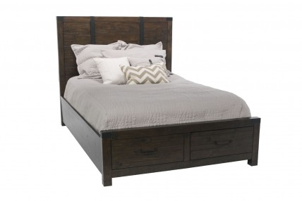 Pine Hill Storage CA King Bed