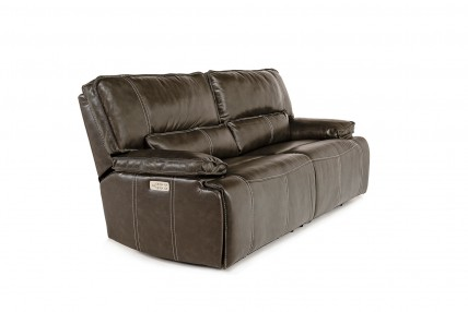 Sofia Gray Power Leather Sofa