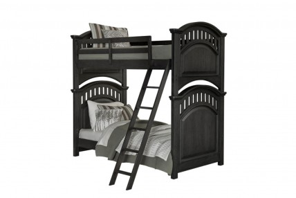 Tundra Twin Over Twin Bunk Bed in Black