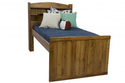 Young Pioneer Twin Bookcase Bed in Brown