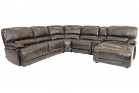 Azul Air Sectional Living Room In Brown Mor Furniture