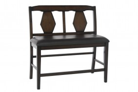 Napa Counter-Height Bench in Brown