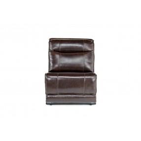 Boba Armless Chair in Brown