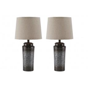 Norbert Table Lamp Set of 2 in Gray