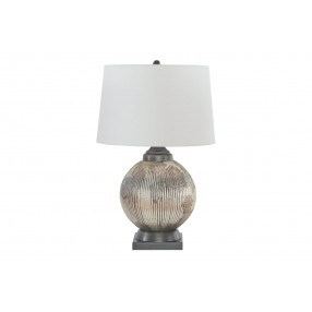 Cailan Table Lamp in Silver/Bronze Finish
