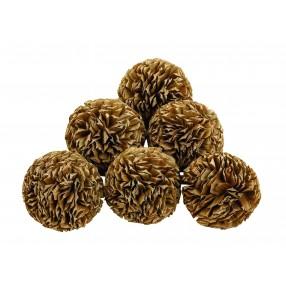Natural Decorative Balls - Set of 6