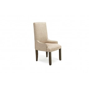 Stone Upholstered Arm Chair in Gray