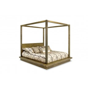 Melbourne CA King Canopy Bed in Brown