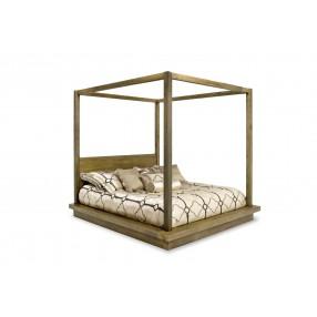 Melbourne Queen Canopy Bed in Brown