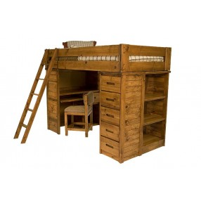 Young Pioneer Student Loft Twin Bed