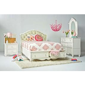 Sweetheart Kids & Teens Upholstered Bedroom in White
