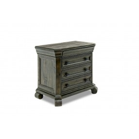 Bellamy 4-Drawer Nightstand in Charcoal