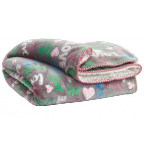 Clarisse Throw Blanket in Gray/Pink/Turquoise