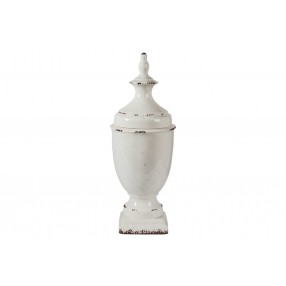 Devorit Antique Ceramic Jar in White