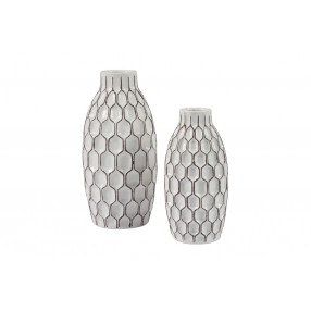 Dionna Vases in White, Set of 2