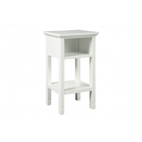 Marnville USB Accent Table in White