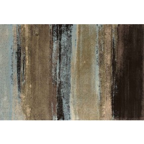 "Aden Brown and Blue Striped Rug - 10'6"" x 7'10"""