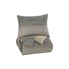 Arturo 3pc King Duvet in Gray