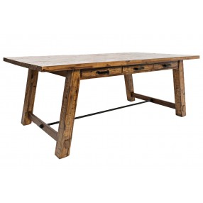 Cannon Valley Trestle Table in Brown