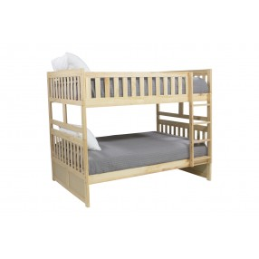 Basic Natural Full Over Full Bunk Bed