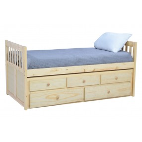Basic Natural Captain Bed