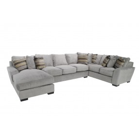 Oracle Down Left-Facing Sofa Chaise Sectional in Platinum
