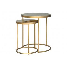 Mejaci Nesting Table in Gold - Set of 2
