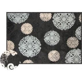Snowflake on Black Napa 6026 5x8 Rug