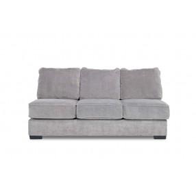 Oracle Armless Sofa in Platinum