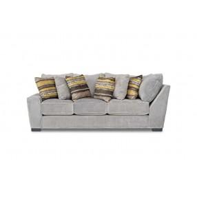 Oracle Down Left-Facing Tux Sofa in Platinum