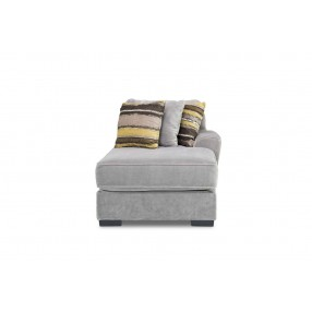 Oracle Right-Facing Chaise in Platinum