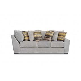 Oracle Down Right-Facing Tux Sofa in Platinum